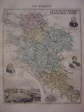 CARTE départementale CHARENTE MARITIME La Rochelle Jonzac  Nombreuses infos