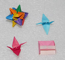 Handmade Origami Mini Cranes Piano 12-Sided Rainbow Star Yasutomo Japanese Paper