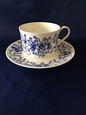 Tiffany & Company ALPINE BLUE Bone China Cup & Saucer - Japan