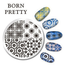 Born Pretty Round Nail Art Stamp Template Small Flower Design Image Plate BP-110