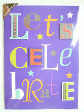 Gorgeous Birthday Card 'Let's Celebrate' Greeting Cards Hand Finished Handmade