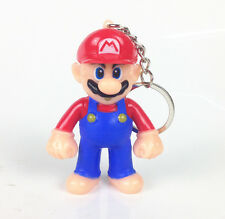 New Super Mario Bros Light Up LED Torch With sound Keyring KeyChain UKYS219