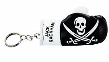 mini boxing gloves keychain keyring key ring leather Flag pirate jack rackham