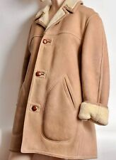 SAKS 5th AVE SHEARLING SHEEPSKIN SUEDE LEATHER Marlboro Man Coat Jacket Sz 40