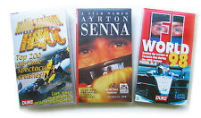 Set of 3 VHS Video Ayrton Senna Millennium Havoc Top 200 crashes F1 World 98