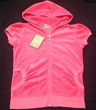 NWT Juicy Couture New Genuine Ladies Small UK 8/10  Bright Pink Velour Hoodie