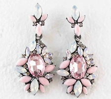 Hot Exquisite New design women gorgeous bib statement crystal long  Earrings 161