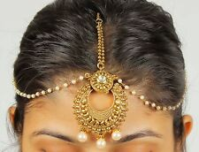 34 Latest Pakistani Matha Patti Pearl Stone Indian Maang Tikka Bridal Head Chain