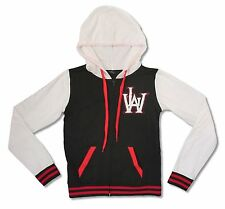 LIL WAYNE VARSITY LETTERS BLACK / WHITE JUNIORS ZIP HOODIE NEW OFFICIAL JRS M