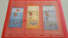 10Pcs PCCB 3 Rows Transparent Paper Notes & Stamp Protectar Insert Sheets