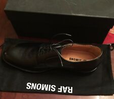 RAF SIMONS Black Leather Men's Shoe New In Box Size 45