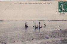 CPA  --  LE CROTOY  BATEAUX RENTRANT AU PORT   CIRCULEE EN 1912   220.C