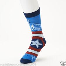 Avengers Age of Ultron Captain America Crew Socks Marvel Comics Mens Size 6 - 12