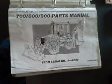 MASSEY FERGUSON 700 800 900 TRACTOR DIGGER BACK HOE PARTS MANUAL BOOK