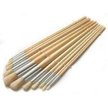 12 LARGE ROUND TIP FINE DECORATING PAINT BRUSHES BRUSH STENCILING STENCIL