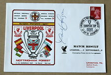 LIVERPOOL V NOTTINGHAM FOREST EUROPEAN CUP 1978 DAWN COVER SIGNED DAVID JOHNSON