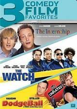 Vince Vaughn Triple Feature The Internship Watch Dodgeball (DVD 2014 3-Disc) NEW