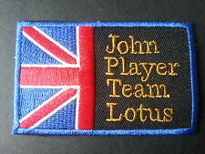 MOTOR RACING CAR RALLY SPORT SEW / IRON ON PATCH:- JOHN PLAYER TEAM LOTUS