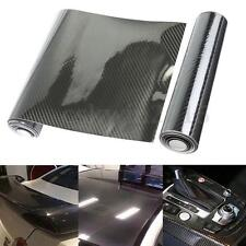 "8"" x 60"" Black Carbon Fiber Glossy Interior Wrap Sheet Sticker Decals for Car"