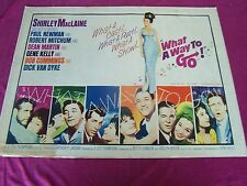 "20th CENTURY-FOX -1964 Movie,"" WHAT A WAY TO GO! ""-orig. 1/2 sht. movie poster"