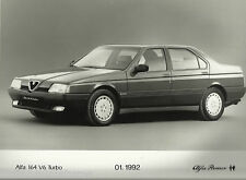 Alfa Romeo 164 V6 Turbo Original 1992 Press Photograph Black and White