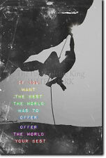 MOTIVATIONAL ROCK CLIMBING POSTER 4 BOULDERING QUOTE MOTIVATION PHOTO PRINT GIFT