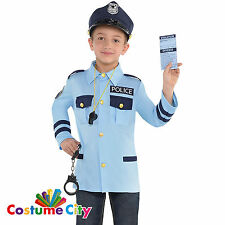 Childs Boys Girls Police Officer Traffic Cop Fancy Dress Costume & Accessory Kit
