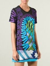 BNWT Adidas Originals X Mary Katrantzou Fitted Digital Logo Top T-Shirt UK 14 L