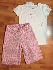Gymboree Girls Sz. 9 Woven  Bermuda Shorts & NWTS Poodle Knit Top Set BTS!
