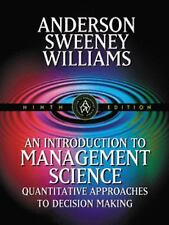 An Introduction to Management Science: Quantitative Approaches to Decision Makin