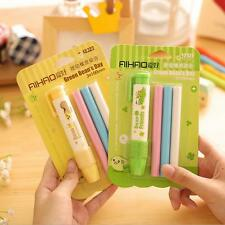 1PCS Pen Shape Stationery Toy Random Color Students Fashion Rubber Eraser Kid
