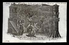 santino incisione 1700 S.FRANCESCA ROMANA.  klauber