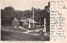 1906 Memorial Library Huntington LI NY post card