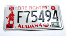 Alabama FIRE FIGHTER License Plate - FIREFIGHTER