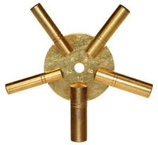 New Universal Brass Clock Key for Winding Clock 5 Prong Even Number