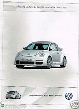 Publicité advertising 2000 VW Volkswagen New Beetle