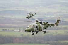 British Army 9 Regiment Air Corps Lynx Helicopters Cumbria  Photo 12x8 inch