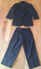 Pierre Cardin Suit Boys Kids. Single Breasted Jacket & Pants. Black. Size 8.