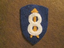 WWI US Army 8th Division Patch AEF