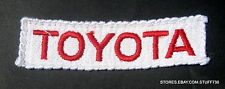 """TOYOTA EMBROIDERED PATCH PRIUS CAMRY AUTO ADVERTISING UNIFORM 4 1/2"""" x 1"""""""