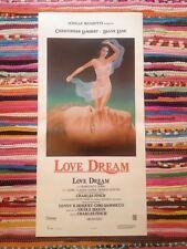 Love Dream locandina poster Christopher Lambert Diane Lane Charles Finch Sexy
