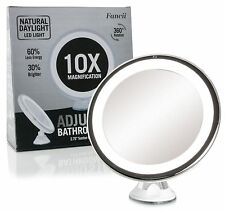 Fancii LED Lighted 10X Magnifying Makeup Mirror Travel Illuminated Magnification