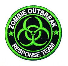 ZOMBIE OUTBREAK RESPONSE TEAM Biohazard Virus Walking Dead Movie Iron On Patch