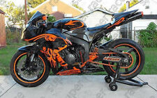 """Hot Black Orange """"TOOLS"""" Fairing Bodywork Injection Kit For 09-12 Honda CBR600RR"""