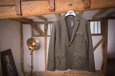 Ralph Lauren oliva in Tweed Lana, Suede & Leather Sweater Giacca RRP £ 605 XL