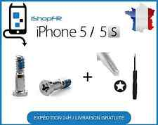 Kit lot de 2 vis du bas GRISE/SILVER  pour IPHONE 5 et 5S + TOURNEVIS
