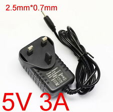 UK DC 5V 3A AC 100-240V Adapter Power Supply Charger for Tablet PC 2.5mm x 0.7mm