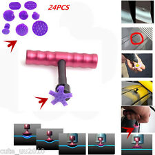 24Pcs Purple PDR Glue Puller Tabs PAD Paintless Dent Repair Hail Removal Tools