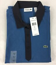 Lacoste Men's Polo Shirt Regular Fit Brand NWT Officer Navy Blue Size EU 6 US XL