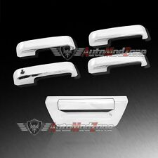 15-17 Ford F-150 Chrome 4 Door Handle Lever Cover+ Tailgate w/o Camera Hole